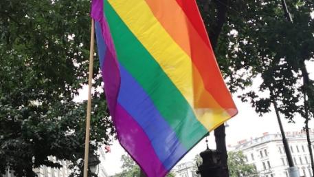 Pride Flagge © justcallmenerdalie on instagram