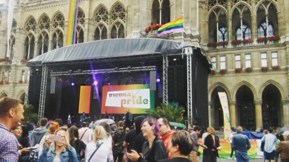 Pride Village am Wiener Rathausplatz von 14. bis 18. Juni