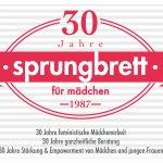 30 Jahre Jubiläum für Sprungbrett am 4. Oktober im Großen Festsaal